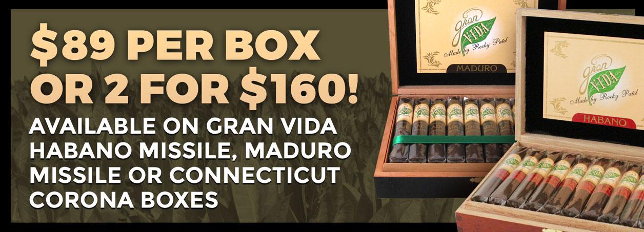 Save on Gran Vida Cigars!