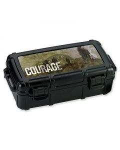 Armed Forces Courage 5 Count Travel Humidor