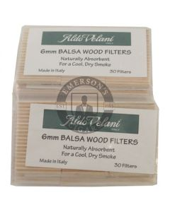Aldo Velani Balsa Pipe Filters Pack of 30 Filters