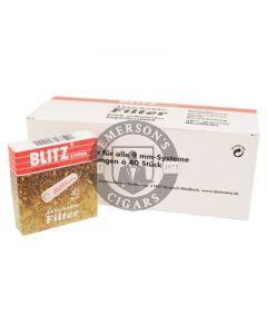 Blitz Pipe Filter 9mm 40 Pack