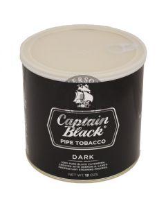 Captain Black Dark Pipe Tobacco 12oz Tin