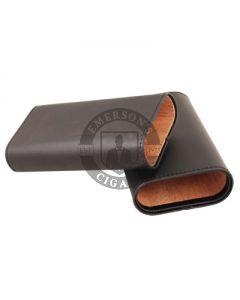 3 Finger Cigar Case Black Cedar Lined