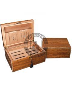 Savoy Marquis Caramel Elm Humidor Small(Capacity 25 Cigars)
