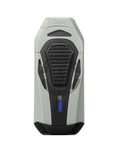Colibri Boss Lighter With Cutter Silver/Black