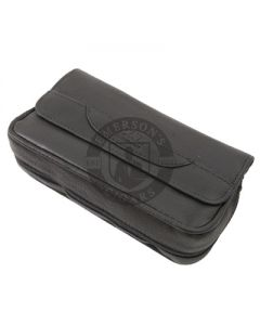 Pipe Pouch Columbus Combo Snap Leather Black