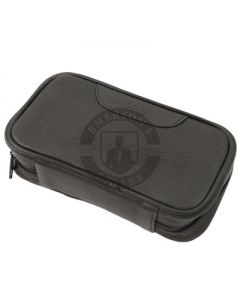 Pipe Pouch Columbus 2 Pipe Travel Leather Black