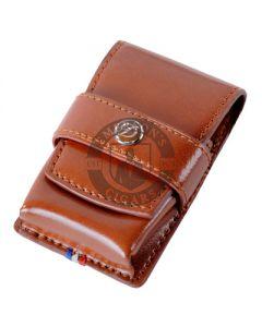 Dupont Line D Lighter Case Brown Leather