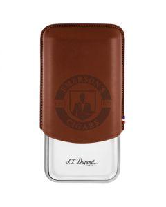 Dupont Triple Cigar Case Brown