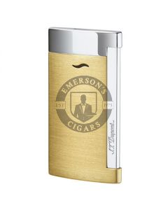 Dupont Slim 7 Lighter Brushed Yellow Gold