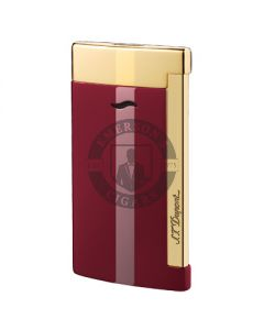 Dupont Slim 7 Lighter Red and Gold