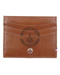 Dupont Wallet Line D Credit Card Holder Brown