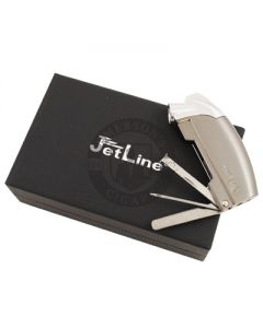 Jetline Samba Pipe Lighter Gunmetal w/ Case