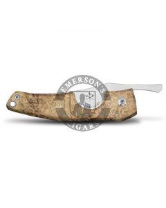 Les Fines Lames Le Petite Cigar Pocket Knife Acacia Burl
