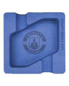 Les Fines Lames Dyad Concrete Blue Ashtray