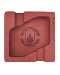 Les Fines Lames Dyad Concrete Red Ashtray