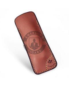 Les Fines Lames Le Petite Cigar Pocket Knife Leather Case Tan