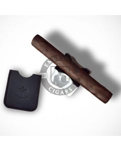 Les Fines Lames Chrome Foldable Cigar Stand and Black Leather Case