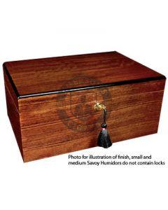 Savoy African Teak Medium Humidor (Capacity 50 Cigars)