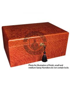 Savoy Beetlewood Medium Humidor (Capacity 50 Cigars)