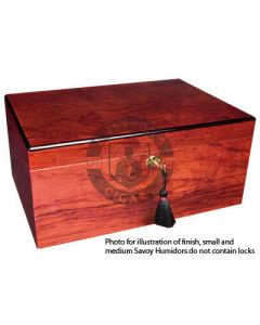 Savoy Bubinga Medium Humidor (Capacity 50 Cigars)