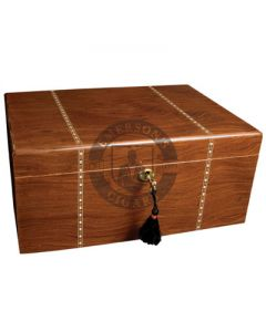 Savoy Ironwood Marquetry Humidor Medium(Capacity 25 Cigars)