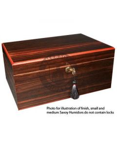 Savoy Macassar Medium Humidor (Capacity 50 Cigars)