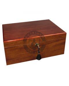 Savoy Mahogany Large Humidor (Capacity 100 Cigars)