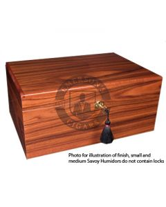 Savoy Rosewood Medium Humidor (Capacity 50 Cigars)