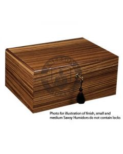 Savoy Zebrawood Medium Humidor (Capacity 50 Cigars)
