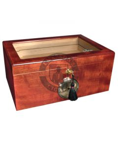 Savoy Mahogany Glass Top Large Humidor (Capacity 100 Cigars)