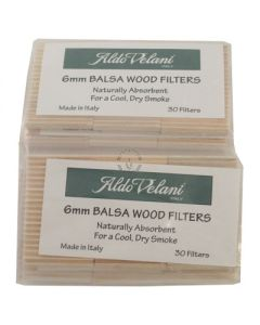 Aldo Velani Balsa Pipe Filters Pack of 30 Filters