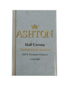 Ashton Half Corona Connecticut 5 Cigars