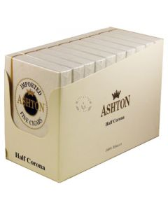 Ashton Half Corona Box 50 (10 Packs of 5 Cigars)