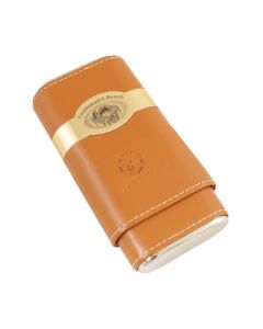 Craftsmans Bench Tan and Silver Robusto Cigar Case