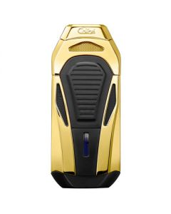 Colibri Boss Lighter With Cutter Gold