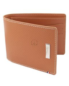 Dupont Wallet Defi Credit Card Holder Perforated Brown