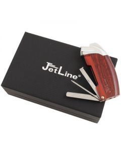 Jetline Samba Pipe Lighter Wood w/ Case