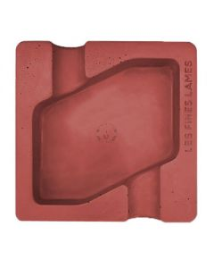 Les Fines Lames Dyad Concrete Red Ashtray