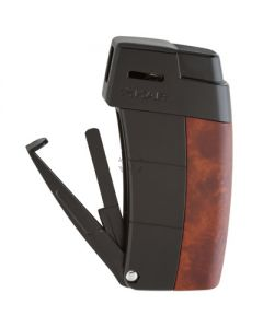 Xikar Resource Amboina Burl with Black Lighter