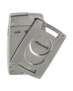 Xikar Ultra Combo Silver Lighter and Cutter